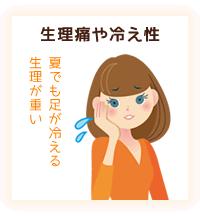 生理痛や冷え性